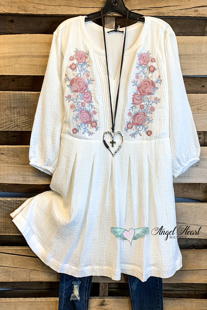 Promise To Love You Dress - Ivory - 100% COTTON - SALE