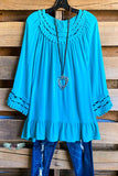 Playfully Perfect Top - Turquoise