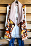 Loving You Vest - Beige Aztec