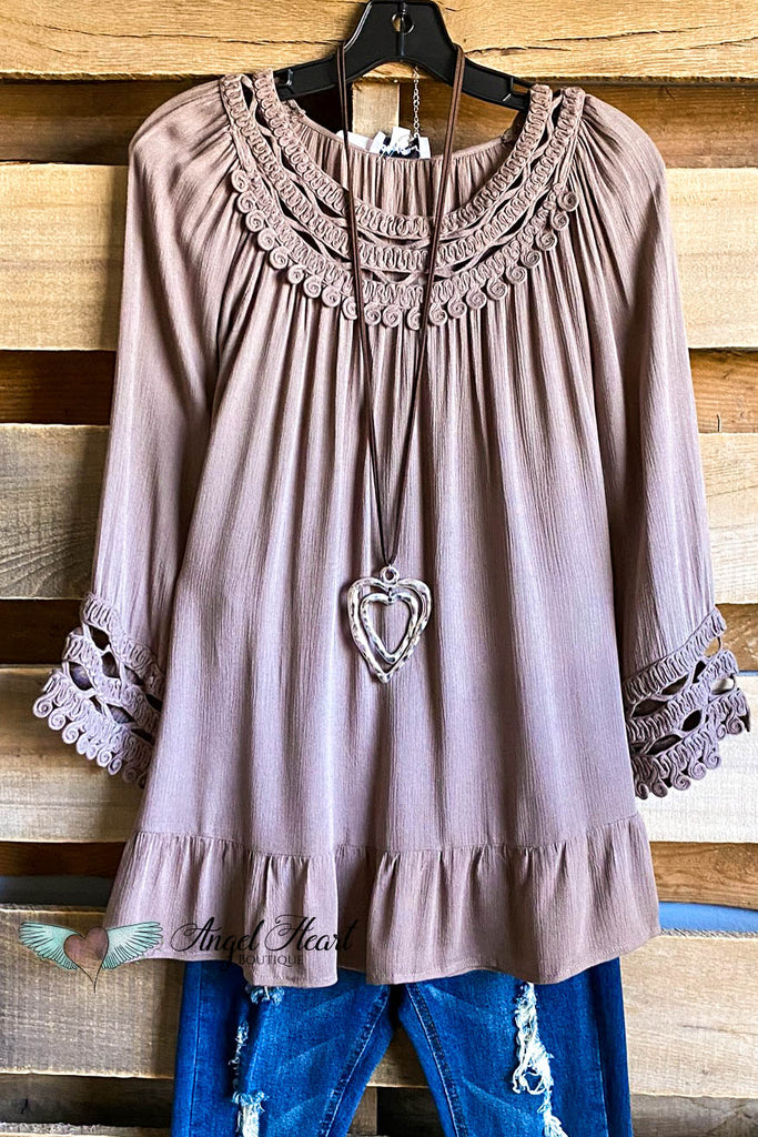 Playfully Perfect Top - Mocha