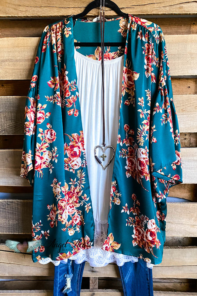 Perfectly Matched Kimono - Forrest Mix