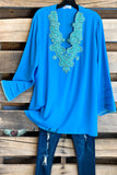 AHB EXCLUSIVE: Arabian Nights Blouse - Turquoise
