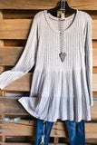 Catching Laughs Dress - Heather Grey