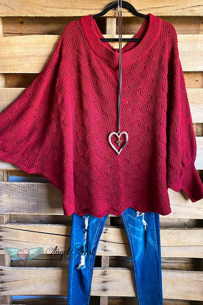Constantly Cozy Sweater - Burgundy - SALE