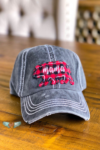 Mama Bear Arrow Hat - Black