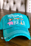 Mama Bear Arrow Hat - Turquoise