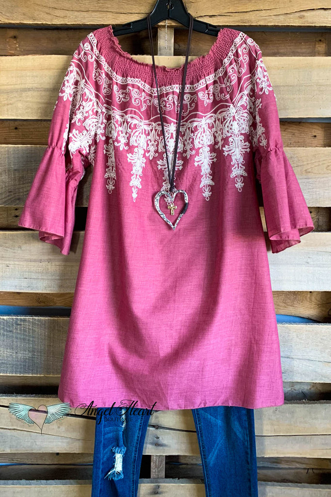 All Tangled Up Top - Mauve - 100% COTTON