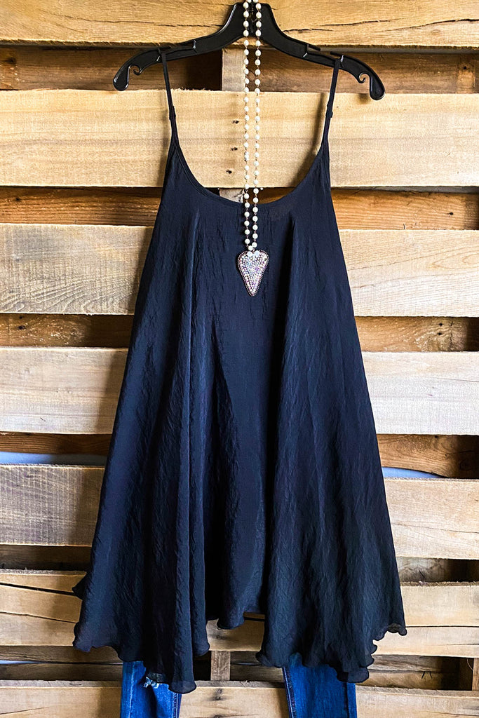 Styling Spaghetti Strap Dress/Extender - Black