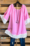 My Sweet Romance Dress - Pink - 100% COTTON - SALE