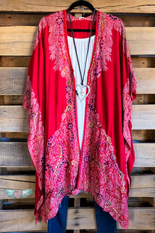 AHB EXCLUSIVE: High Front Low Back Kimono - Rose
