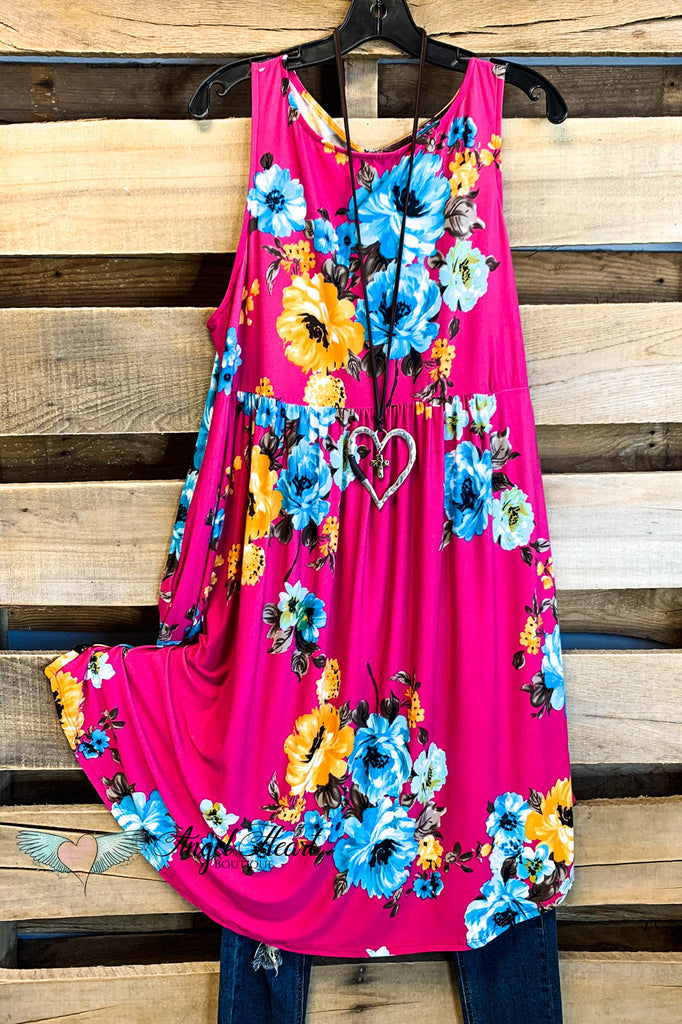 Shine So Bright Dress - Fuchsia - SALE