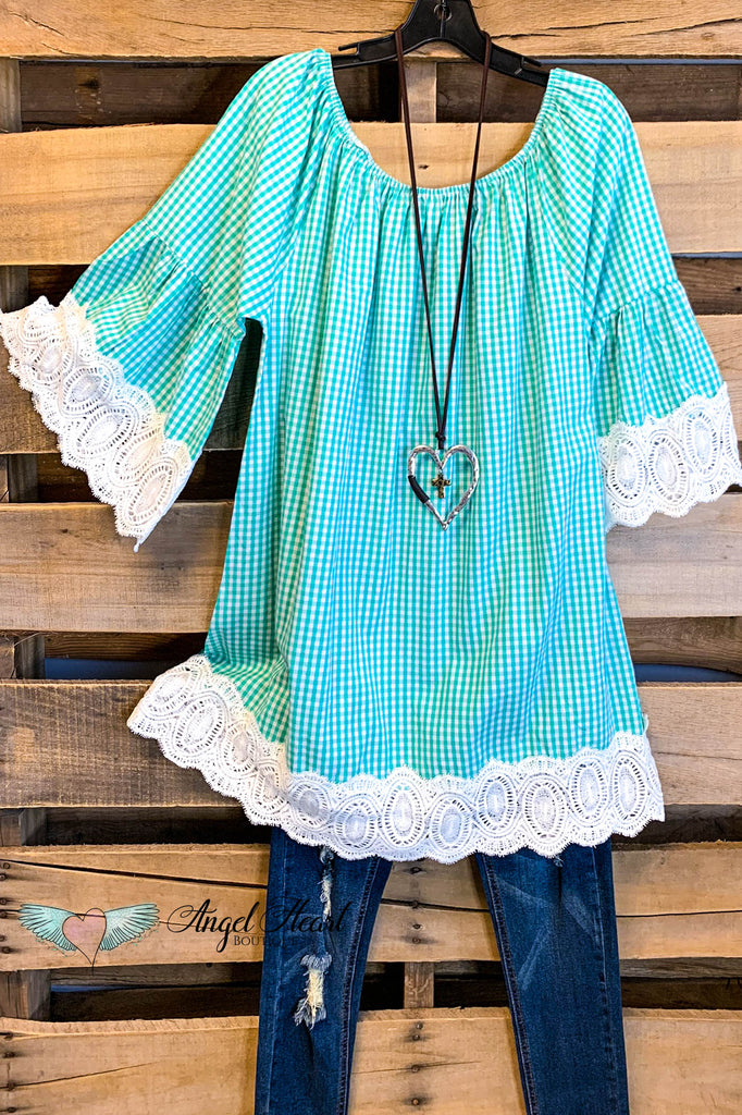 My Sweet Romance Dress - Mint - 100% COTTON