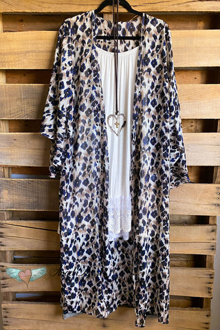 AHB EXCLUSIVE: Rise Like The Sun Kimono - Navy - SALE