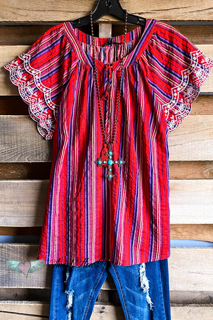 Summer Shade Top - Red Multi