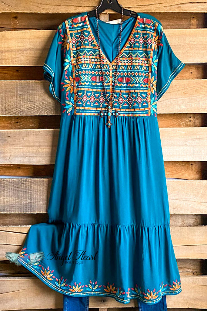 Finally Free Dress - Teal