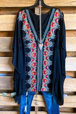 AHB EXCLUSIVE:  More Than Just a Friend Lace Kimono - Navy