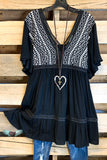 AHB EXCLUSIVE: Sweet Sensation Dress/Tunic - Black