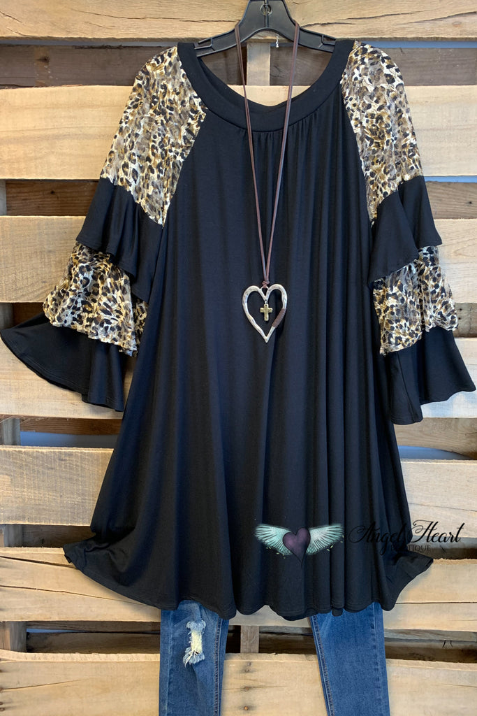 My Feline Side Tunic - Black