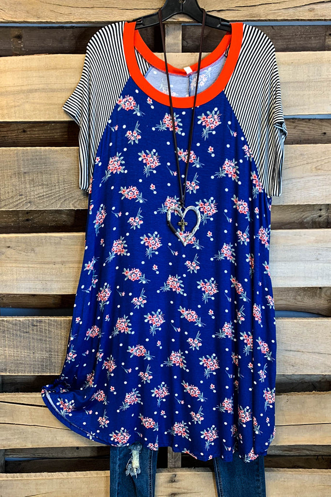 Summer Retreats Dress - Royal Blue