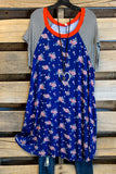 Summer Retreats Dress - Royal Blue - SALE
