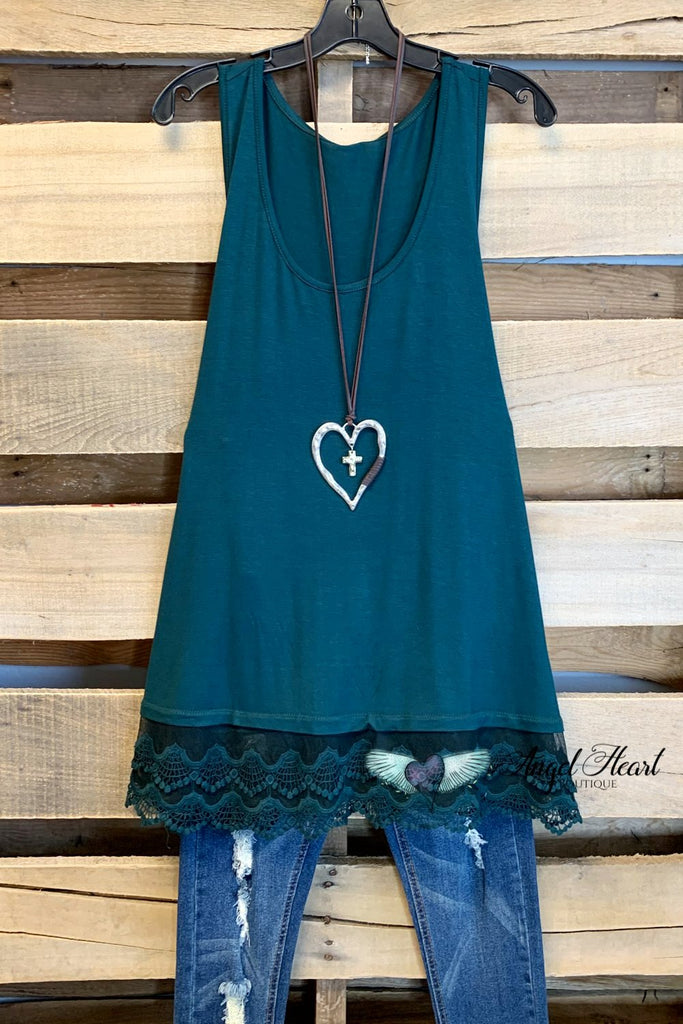 Extender: Slip on Tank/Tunic-Hunter Green