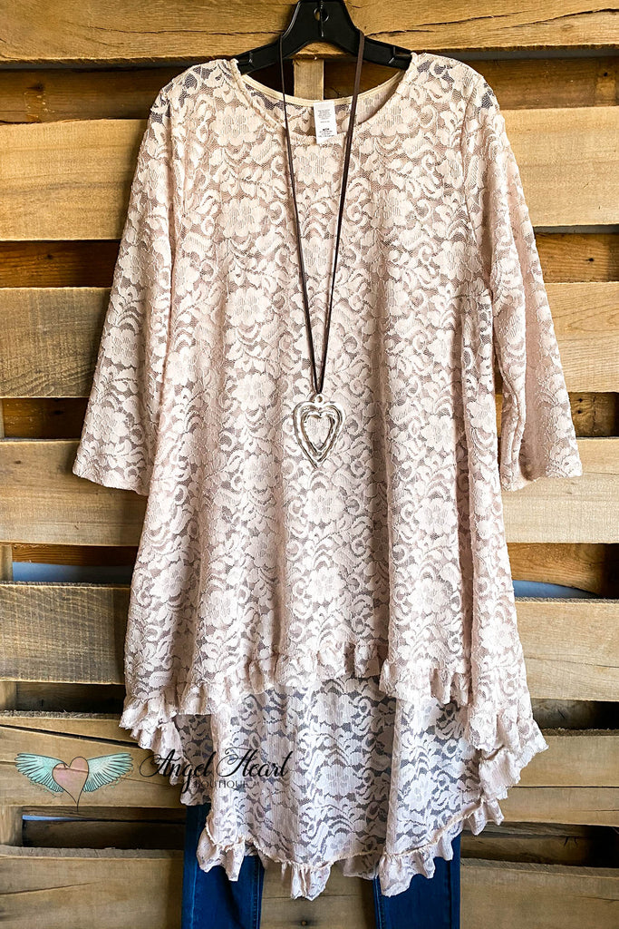 Seeing The Beauty Lace Tunic - Beige