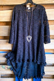 Seeing The Beauty Lace Tunic - Black