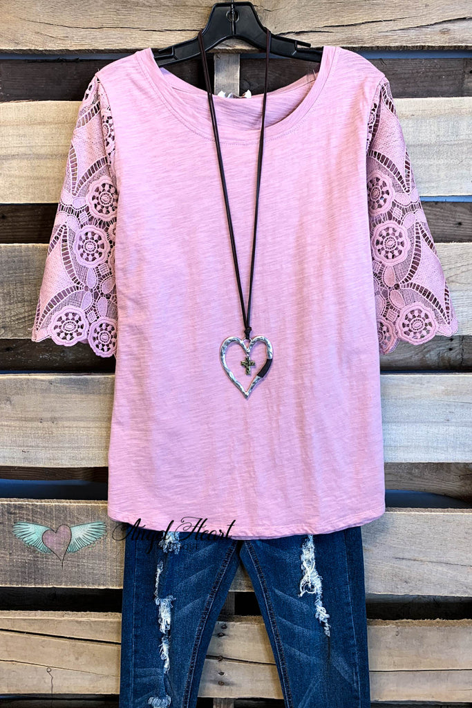 Easy Days Top - Mauve - 100% COTTON - SALE-