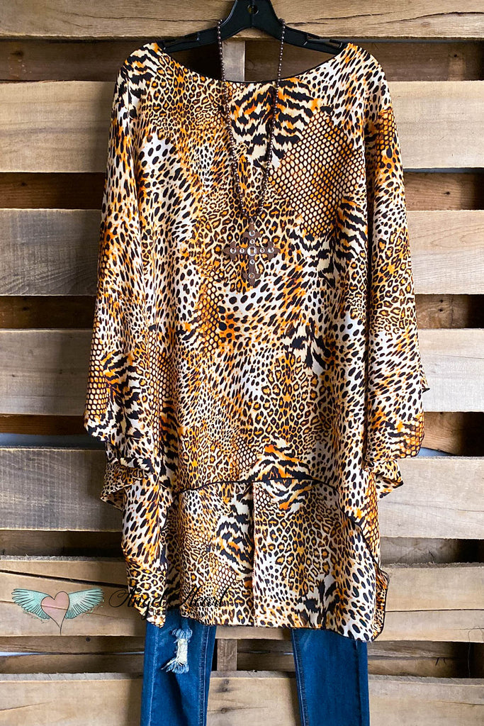 Leopard Dreams Overiszed Tunic - DOORBUSTER