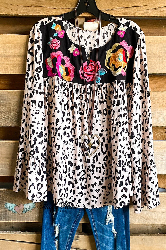 AHB EXCLUSIVE: Beyond Beliefs Top - Leopard (Bell Sleeves)