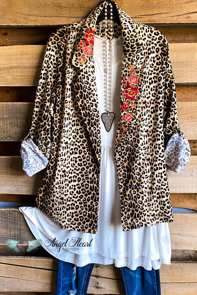 World In Wonder Blazer/Cardigan - Leopard