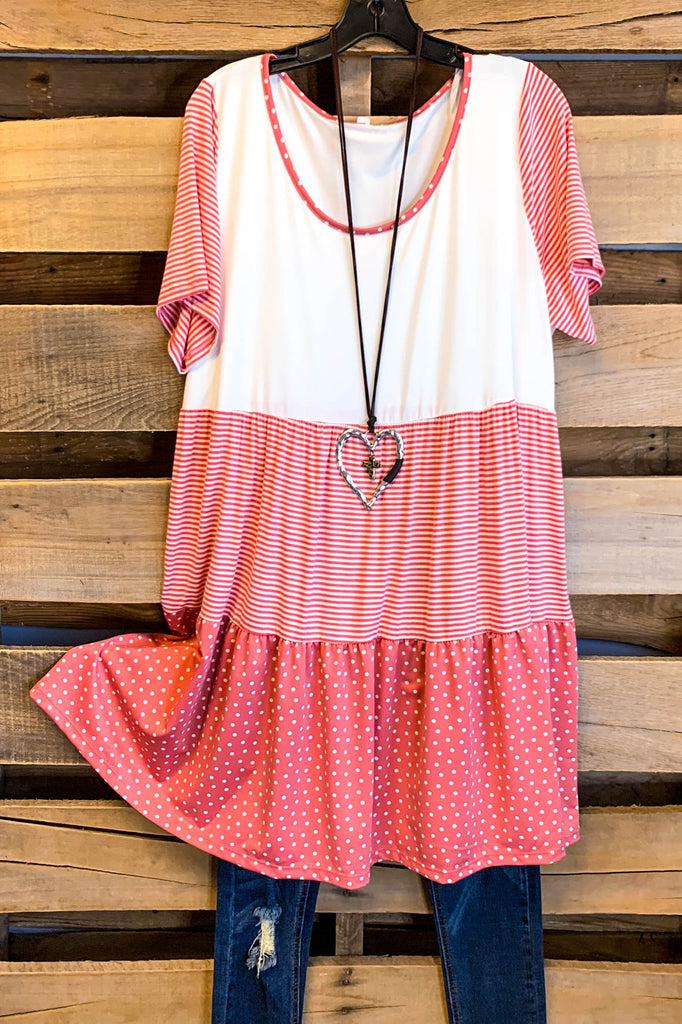 Flip The Script Dress - Coral
