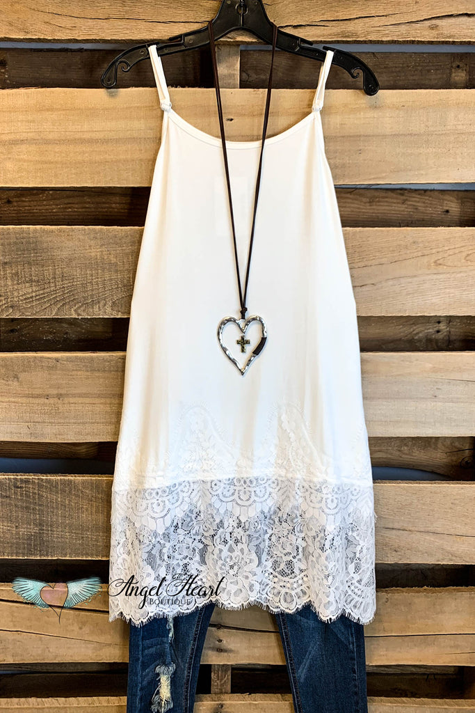 Romantic At Heart Extender - Off White  - Adjustable Straps