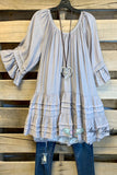 Stay True To Your Heart Dress - Grey