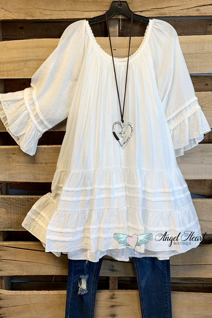 Stay True To Your Heart Dress - White