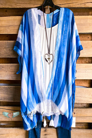 That Burnout Velvet Kimono - Fringe - Black - SALE