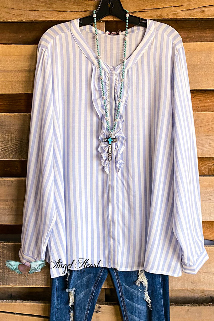 Lined Love Tunic - Lt. Blue