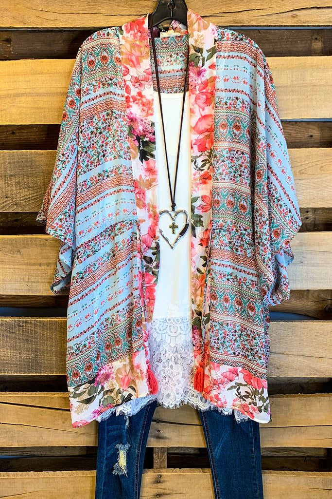 You & Me Together Kimono - Mint