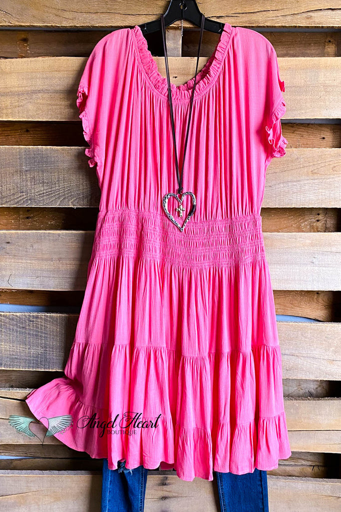Secret Love Dress- Coral Pink - DOORBUSTER FINAL SALE