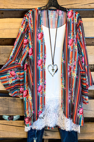 A Way To Your Heart Short Sleeve Kimono with Tassels - White - SALE