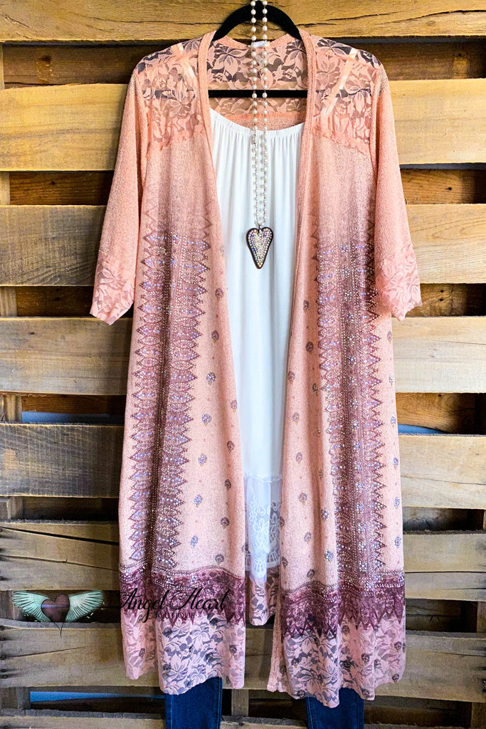 Captured Beauty Cardigan - Peach
