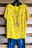 Sunny Flowers Top - Yellow - SALE