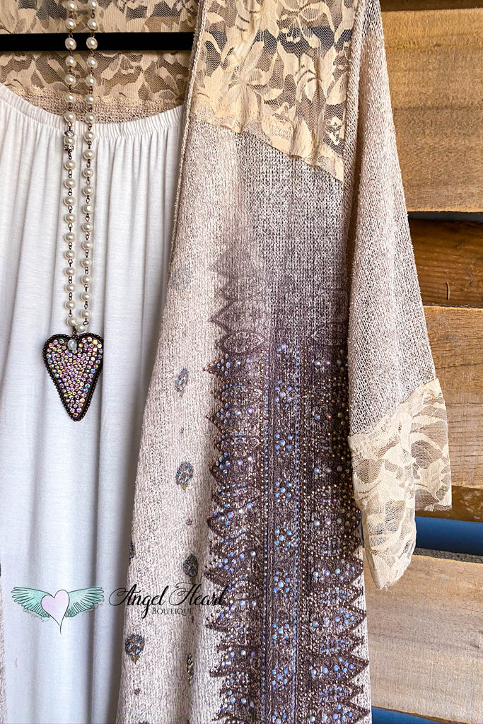 Captured Beauty Cardigan - Taupe