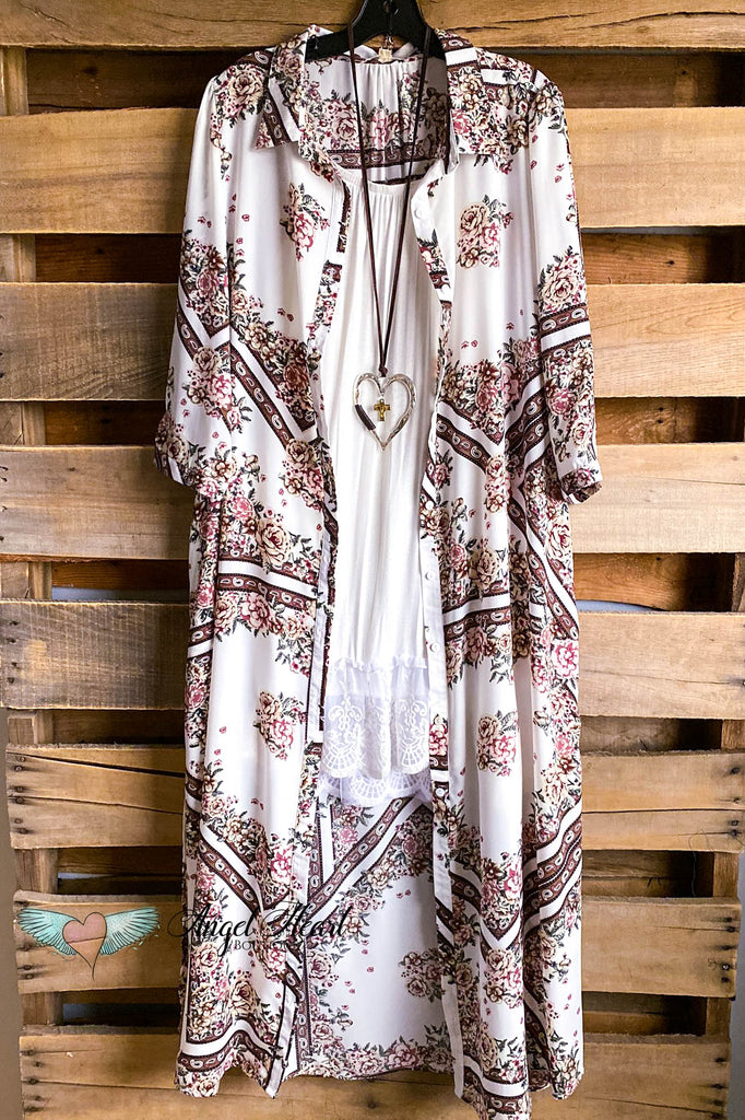 Country Chic Duster/Dress - Off White