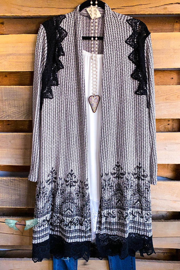Shadow Shine Cardigan - Black