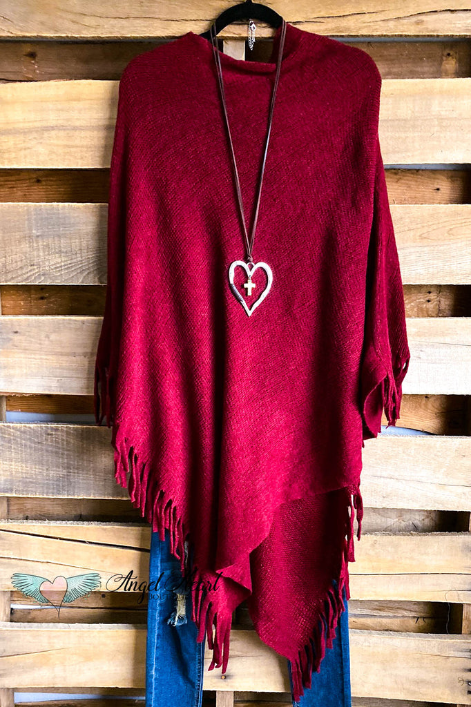 Chill City Poncho - Red