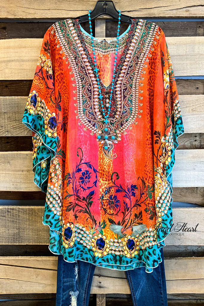 PAPPARAZI: Oceans of Love Kaftan - Orange Mix