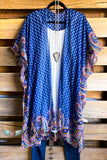 Fresh As A Flower Kimono - Blue - DOORBUSTER
