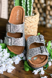 Shine Bright Buckle Sandals - Silver