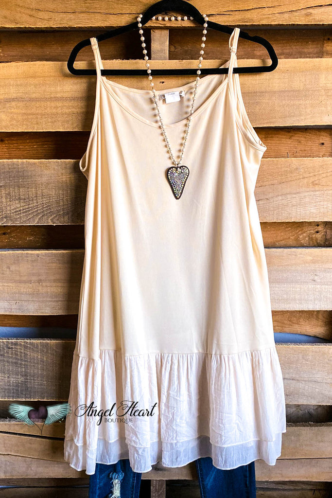 Two Piece Tunic (Extender) - Beige